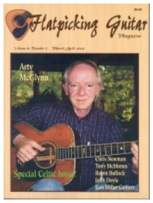 Flatpicking Guitar Magazine cover featuring Arty